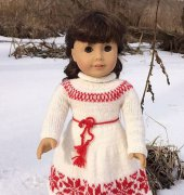 American Girl Doll Nordic Winter Dress - Elaine Phillips - ABC Knitting Patterns - free