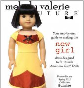 "New Girl Dress - Fits 18"" Dolls - Melody Valerie Couture"