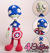 Zombie Captain America - Ds Mouse Bears - Mila Kralina