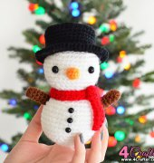 Toby The Snowman - Michelle Alvarez - Bunnies and Yarn