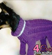 Knitted Overal for a dog - Unknown designer - Free