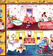 Dolls House, Furniture and Doll Family 1002 - Vintage Pattern - Author Unknown