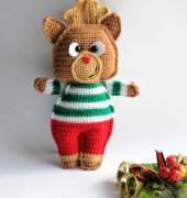 Rudolph the red nosed reindeer ragdoll - Passionatecrafter - Free
