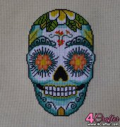 Aloha Flower Sugar Skull - Hank s Pattern Palace