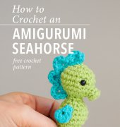 How to Crochet an Amigurumi Seahorse - ChiWei Ranck - One Dog Woof - Free