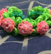 Rose Rainbow Loom bracelet - unknown