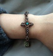(Diary) Cross Ring Chain Bracelet