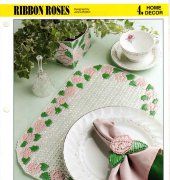 Ribbon Roses placemats - Janna Britton - Annies Plastic Canvas Club - free