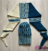 Hat and triangle scarf