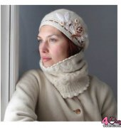 Crocheted and Embellished Beret - Marianne Seiman - MarianneS