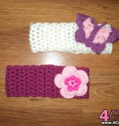 Flower and Butterfly hair band