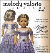 "Ardith Dress - Fits 18"" Dolls - Melody Valerie Couture"
