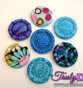 How to Make Singleton Buttons - Diane Gilleland - Craftstylish - free