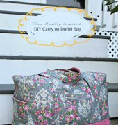 Vera Bradley Inspired DIY Cargo Duffel Bag - Remona - The Stitching Scientist - Free