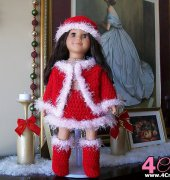 Christmas Doll Outfit - Wanetta Cavanaugh - Always Pretty in Pink