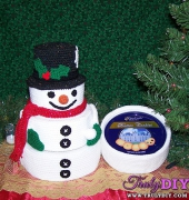Snowman Treasure Tower - Deborah Ross - Four Bees Designs