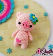 Amigurumi Pig - Anitha Domacin - A little love everyday - Paint It Colorful - Free