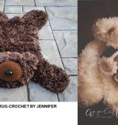 Faux Bear Skin Nursery Rug Jennifer Dougherty Crochet By