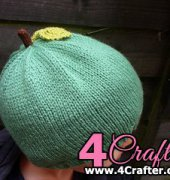 Apple Pip Hat - Claire Slade - Verily Knits - Free