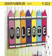Crayon Nameplate - Jean Green - Annie's Plastic Canvas Club - free