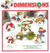 Silly Snowmen Ornaments - 8648 - Dimensions