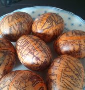 Silk decorated easter eggs - kpv