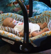 Recovering a baby car seat/carrier by Merriebabies